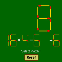 マッチ棒計算(掛け算&足し引き算編)